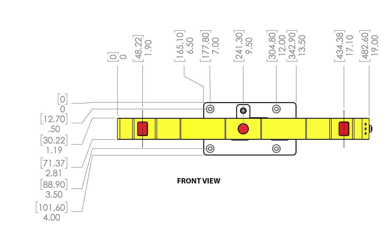 JS-50 WX diagram front view